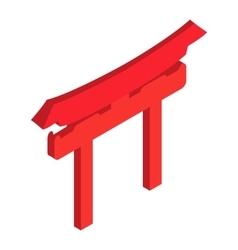 Shintoism isometric 3d icon vector