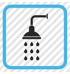 Shower icon in a frame vector