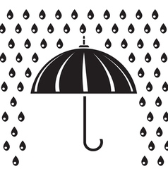 silhouette of umbrella vector image