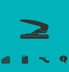 stapler icon flat vector image vector image