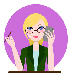 Support manager woman icon cartoon flat vector