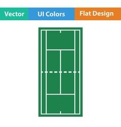 Tennis field mark icon vector image