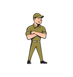 Tradesman Arms Crossed Isolated Cartoon vector image vector image