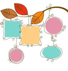 tree branch hanging frames vector image