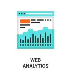 Web analytics icon vector