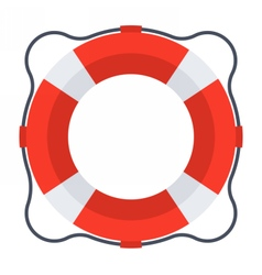 Classic red lifebuoy vector