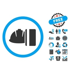 Work card payment flat icon with bonus vector