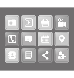Social media and networking icons set vector image