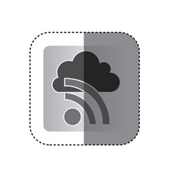 Gray cloud wife network icon vector