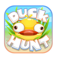 Duck hunt sticker vector