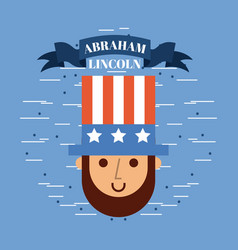 abraham lincoln usa related image vector image