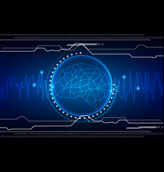 Abstract brain technology background vector