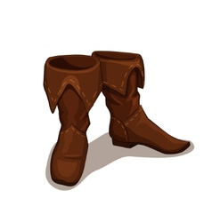 leather boots vector image