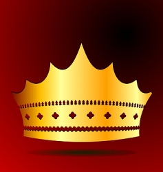 Illustration the gold royal crown vector