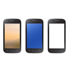 Black smartphone collection isolated on white vector