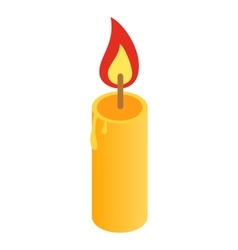 Candle isometric 3d icon vector