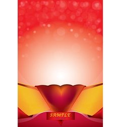 Abstract background heart bokeh red card valentin vector