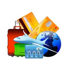 worldwide travel vector image