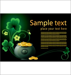 Patrick day background with pot vector