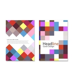 Brochure template design with squares and vector