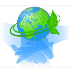 Ecology of the planet earth vector