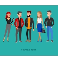 Creative team people teamwork art director and vector
