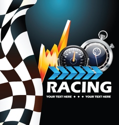 Racing poster vector image
