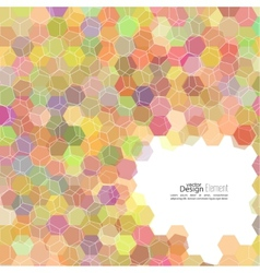 Abstract background of hexagonal shapes of vector