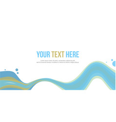 Abstract website header wave style stock vector