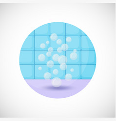 Air bubbles flat icon vector
