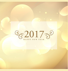 Beautiful 2017 celebration greeting card design vector