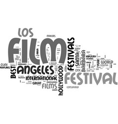 best film festivals text word cloud concept vector image