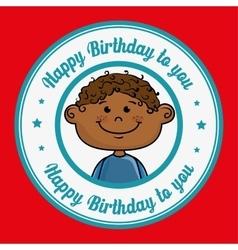 boy cartoon happy birthday vector image