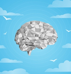 Brain distracted vector