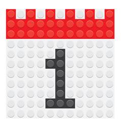 Calendar 1 number vector