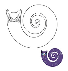 Cat breeds cat snake coloring book fabulous pet vector
