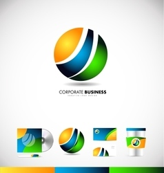 Corporate business sphere logo icon design vector image vector image