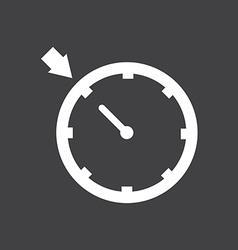 Cruise control car dashboard icon vector image