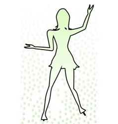 Dancing girl outline vector