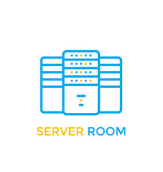 Data center server room icon vector