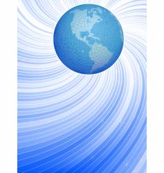 earth and dynamic lines vector image