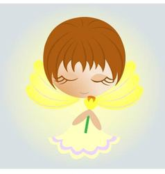 easter angel vector image