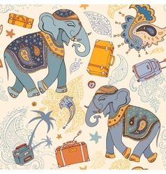 Elephant travel pattern vector