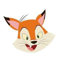 Fox cartoon icon vector