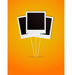 happy polaroid frame vector image vector image