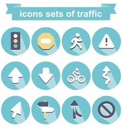 Icons traffic vector