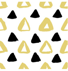 ink triangle pattern vector image vector image