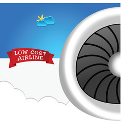 low cost airline icon vector image vector image