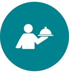 Man Serving Food vector image