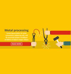Metal processing banner horizontal concept vector